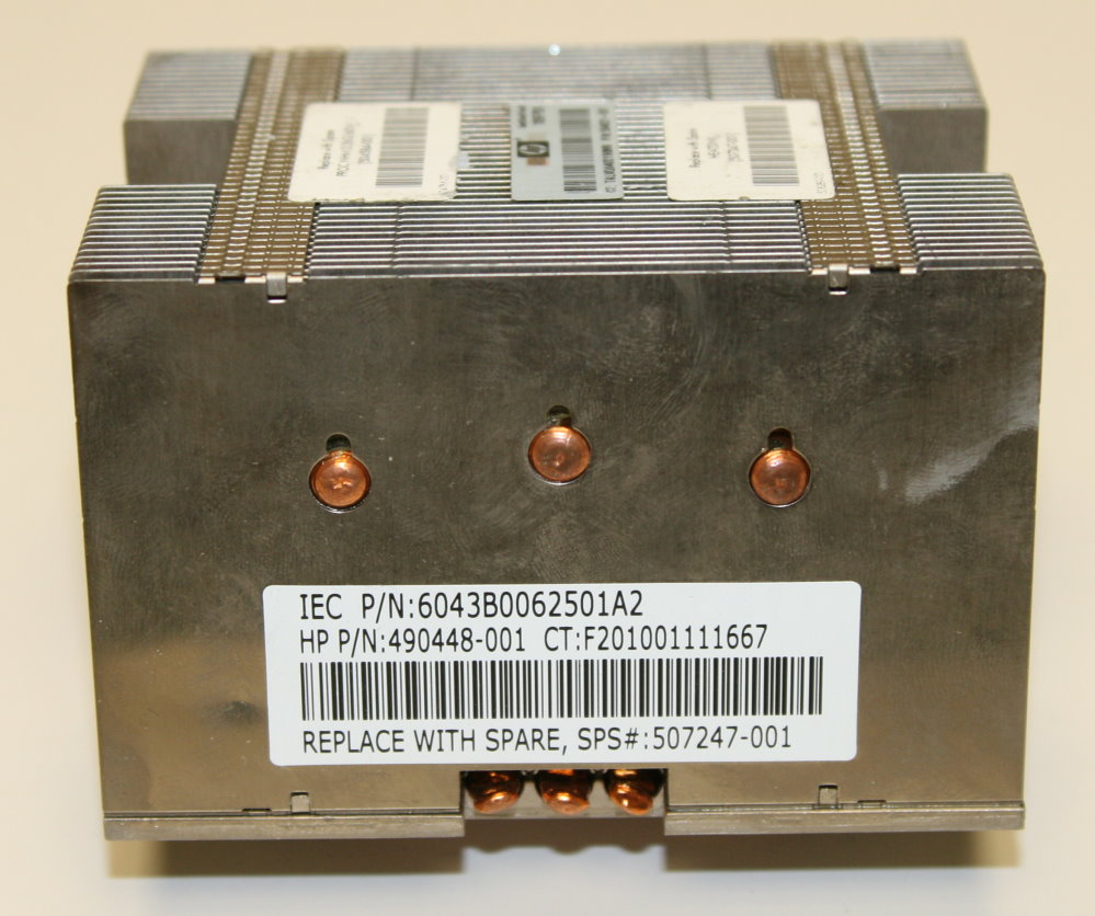 511803-001 Hewlett-Packard ProLiant DL160 G6 Server Heatsink